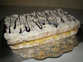 Dette er en nydelig kake, som er ganske rask å lage. Både bunn og fyll kan lages dagen før kaken skal serveres. Her kommer oppskriften : R...