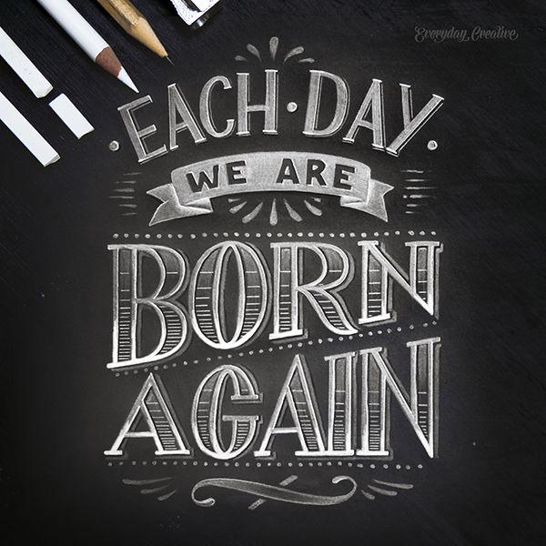 """""""Each day we are born again"""" #everydaycreative #aureliemaron"""