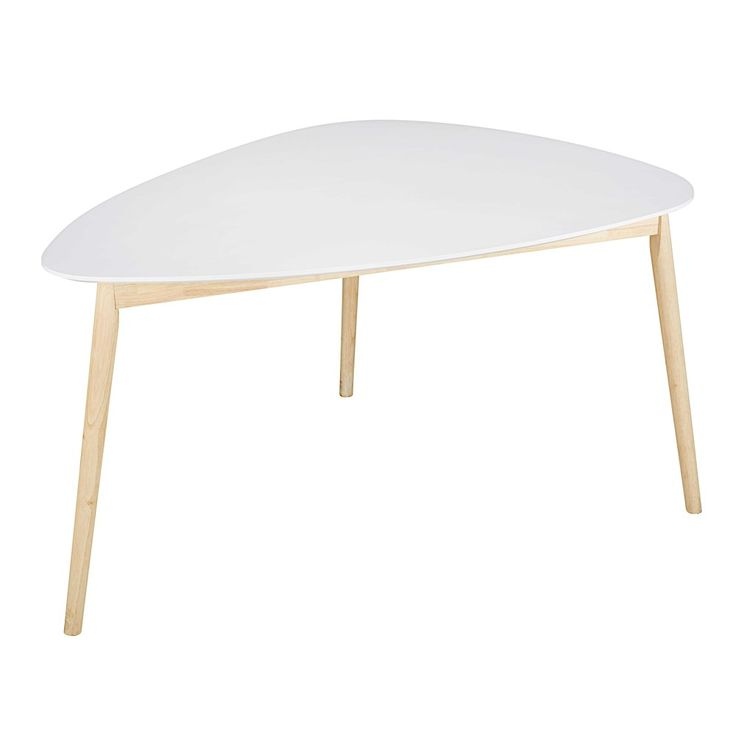 SPRING Scandinavian White Dining Table | Maisons du Monde