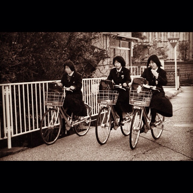 Himi Japan  City new picture : School girls bicycling in Himi japan | Japan Simply Complex | Pintere ...