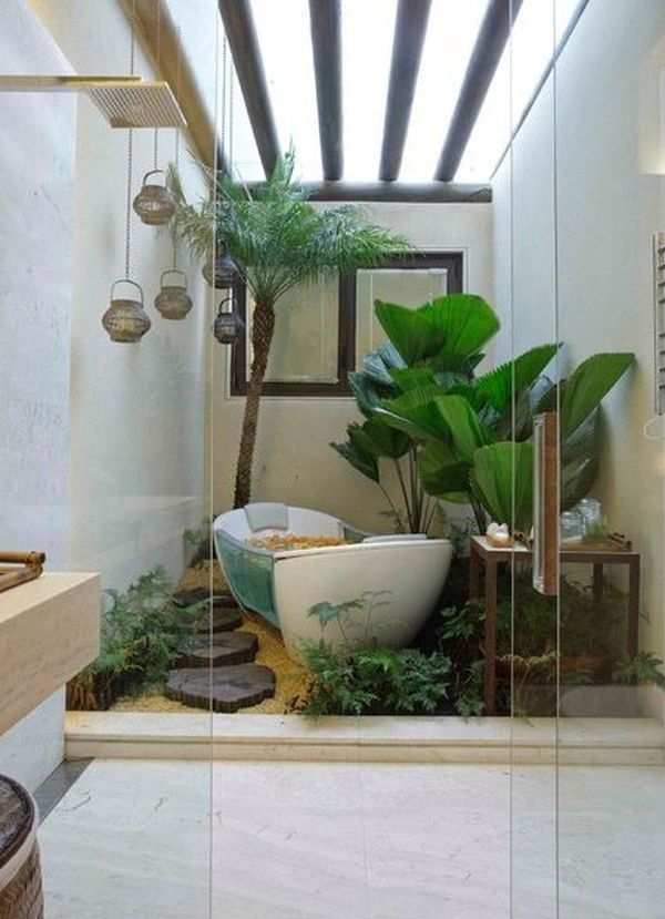 Pin By Yasir Ali On Bathrooms Jungle Bathroom Natural Home