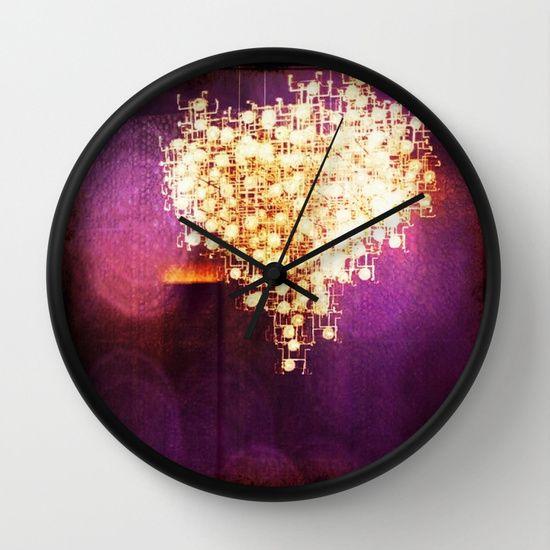 violet+heart+Wall+Clock+by+Parastar+Arts+-+$30.00