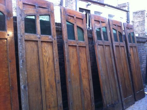 Details About 1930 39 S Folding Wooden Oak Panel Garage Doors