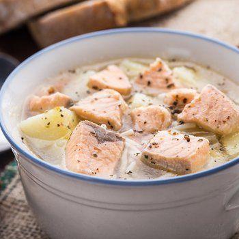 Blanquette au saumon et cabillaud