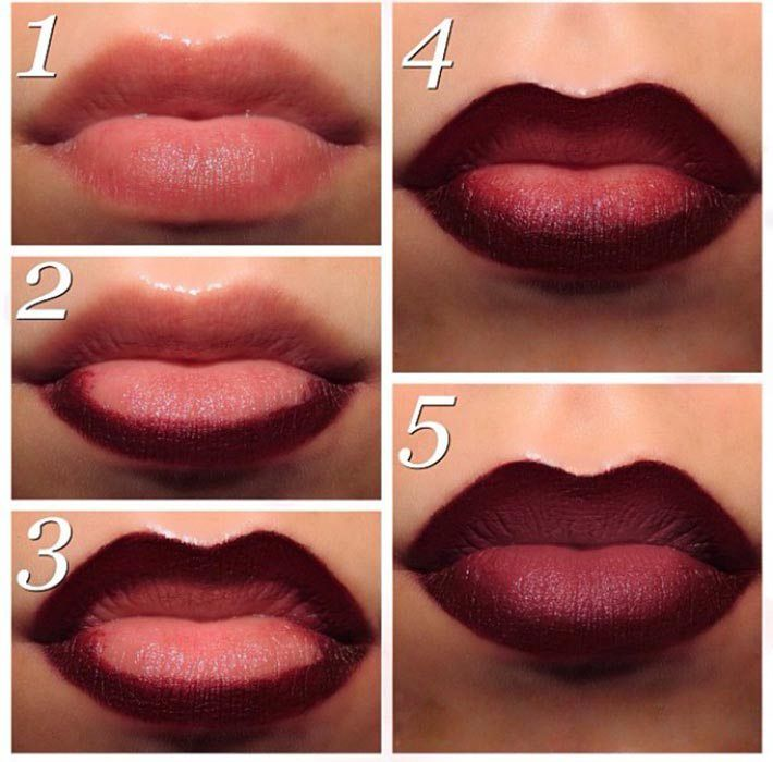 Red Ombre Lips