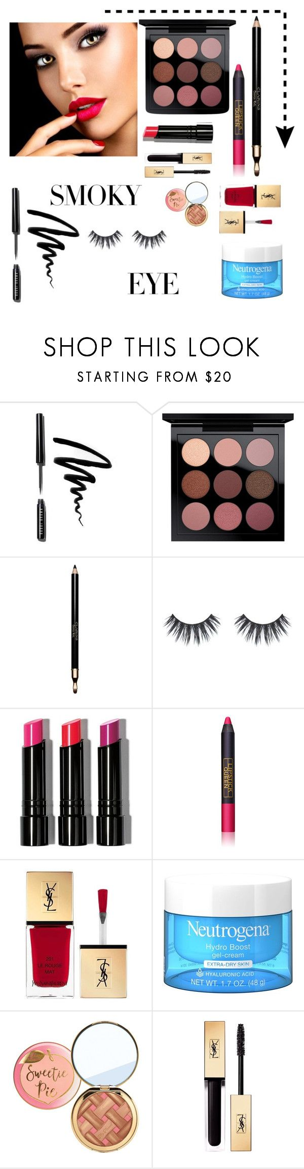 """""""Smoky Eye #2"""" by lauren-ilana ❤ liked on Polyvore featuring beauty, Bobbi Brown Cosmetics, MAC Cosmetics, Clarins, Lipstick Queen, Yves Saint Laurent and makeupset"""