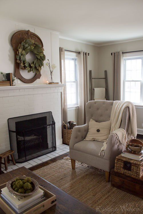 Spring decorating in the living room rustic and woven for Spring living room ideas