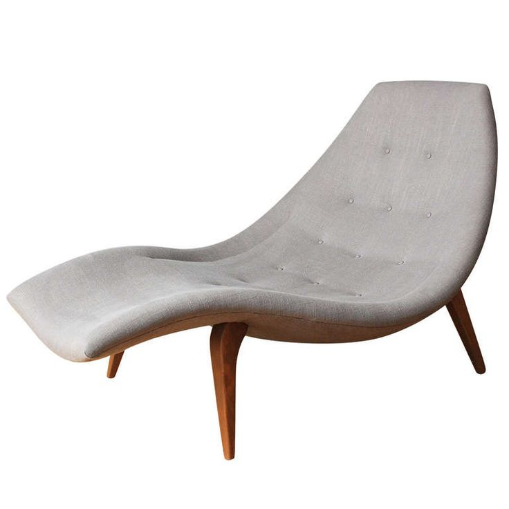 Mid-Century Modern Chaise Lounge in the style of Adrian Pearsall | From a unique collection of antique and modern chaises longues at https://www.1stdibs.com/furniture/seating/chaises-longues/