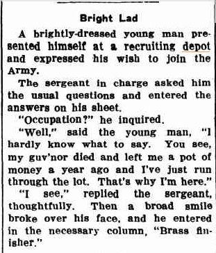 This little extract was published in the Gnowangerup Star on October 14, 1939.