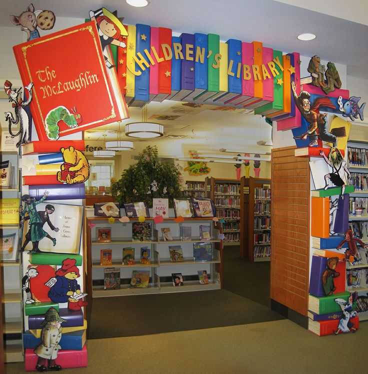Entrance into children's room of the Franklin Lakes Library, Franklin Lakes, New Jersey