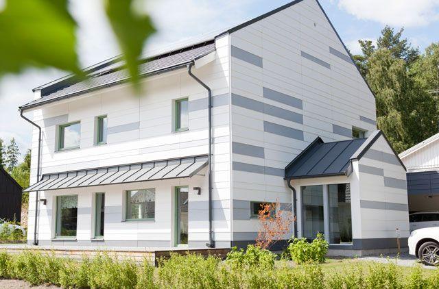 Passivhuset har en effektiv planlösning i formen av en kub, detta för att det ska kunna bli så energieffektivt som möjligt.