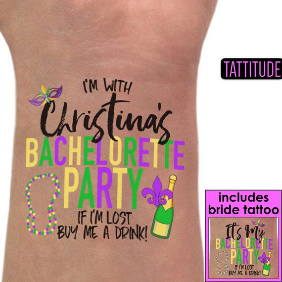 New Orleans Tattoos Bachelorette Party