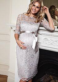 Amelia Kleid silber aus der Kategorie Festliche Umstandsmode von Mamarella