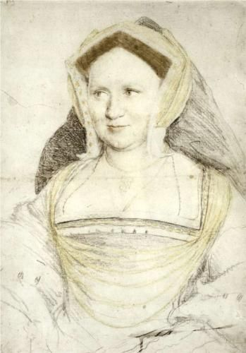 Portrait of Lady Mary Guildford, 1527 - Hans Holbein the Younger (looking less discontented here)