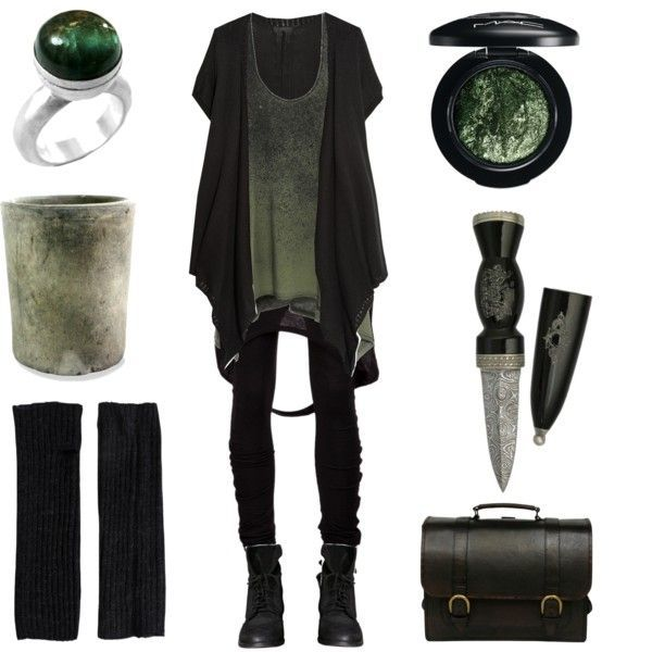 Moss and Stone by maggiehemlock on Polyvore featuring moda, Edun, Donna Karan, Barbara I Gongini, Zara, Beara Beara, Chen Fuchs Jewelry, Pieces, MAC Cosmetics and HomArt