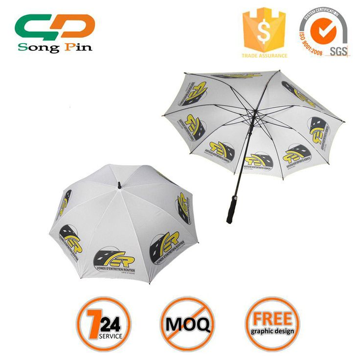 High quality golf umbrella with fibre glass material, eva straight handle #Glass_Screen, #Ribbed