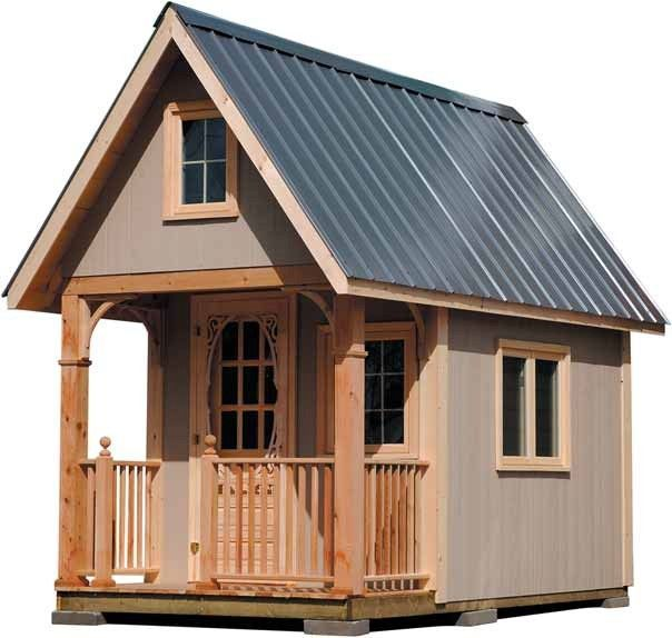 Free Cottage Style Wood Cabin Plans (No Building Permit Required) 108 sq ft so no building code most places