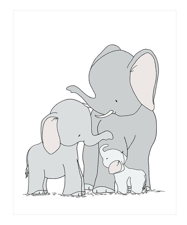 Look at this Elephants One Big Happy Family Print on #zulily today!