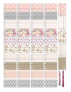free heart checklist pretty pattern free planner stickers @planner.PICKETT