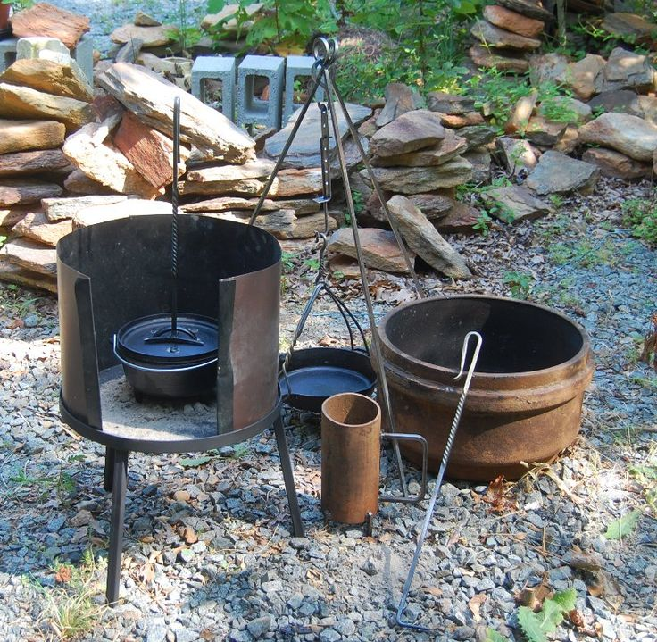 105 best images about cast iron storage cook setup on for Outdoor kitchen equipment