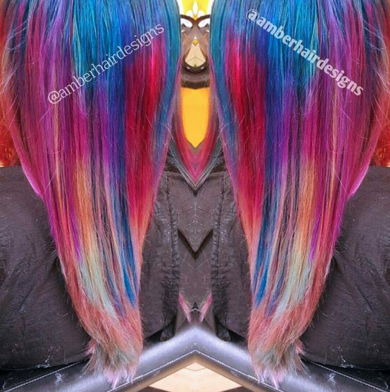 Hairstylist Amber Bell with Arctic Fox Hair Colors  Amber Hair Designs, Grand Junction, Colorado  https://m.facebook.com/funfunkyhair