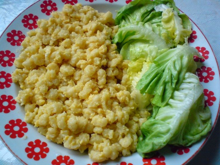 Tojásos nokedli ecetes salátával - Mindmegette Villámverseny Recept képpel - Mindmegette.hu - Receptek