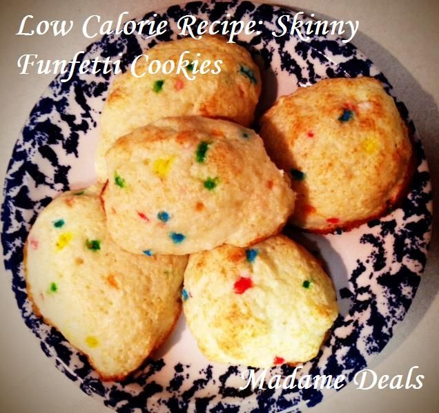 Low Calorie Funfetti Cookies - Easy Cookie Recipes for Kids #recipe #kids #cookie