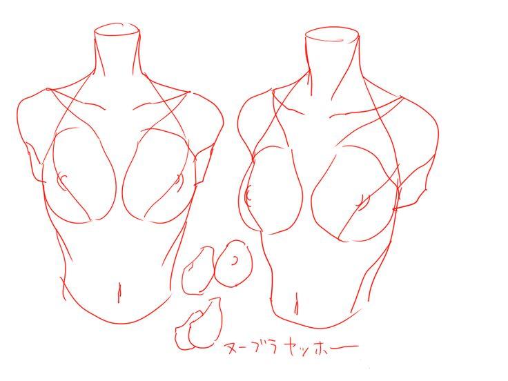 個人的上半身(女性)の描き方。 [4]