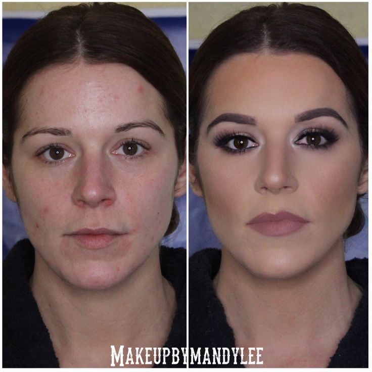Before and after of bridal makeup by me. Instagram -makeupbymandylee
