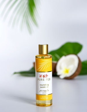 Pure Fiji Exotic Bath & Body Oil - Pineapple Infusion  Pure Fiji Product Tropical, Natural, Organic Body Care