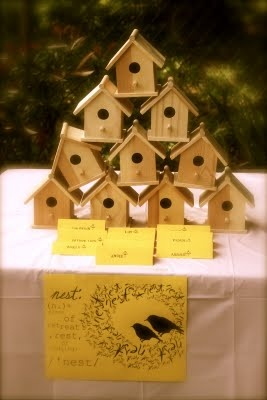 """birdhouse painting for a """"birdie"""" themed party"""