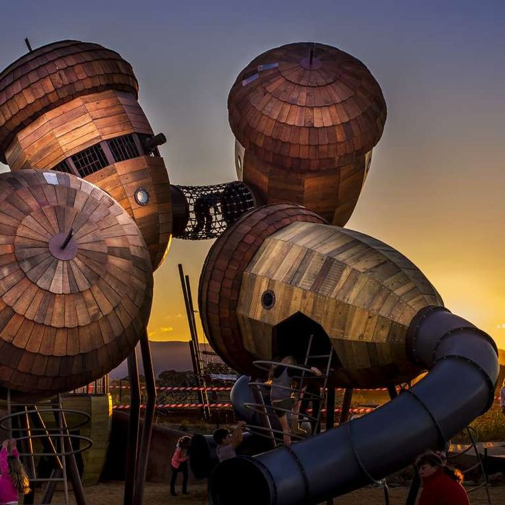 Pod Playground at dusk. Photo by M. Ollman
