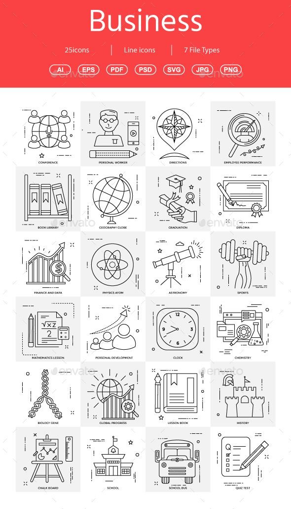 #Business #Illustration line - Business #Icons