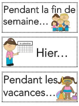 Milling to music oral partner talk about their summer vacation! French Verb Bundle- Passé Composé Visuals and Prompts
