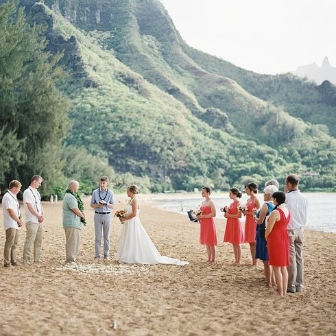 makua beach kauai small beach weddingshawaii