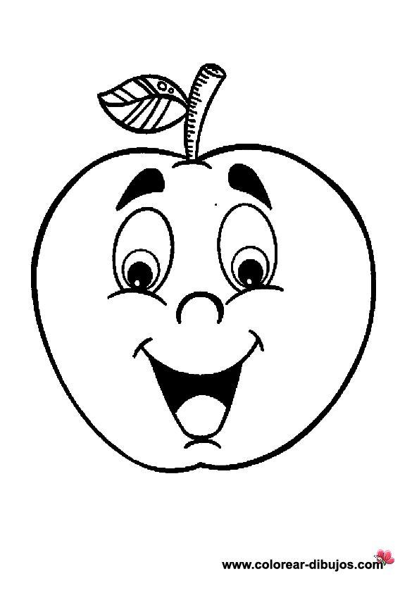 Imagenes De Frutas Para Colorear | Dibujos infantiles de frutas para colorear.