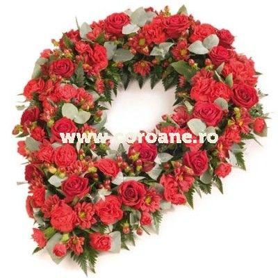 Suntem alaturi de cei indurerati prin cele mai frumoase coroane funerare: flori proaspete, modele inedite si cele mai rezistente coroane funerare!