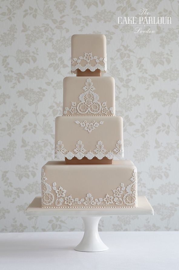 square wedding cakes lace wedding cakes lace cakes victorian lace