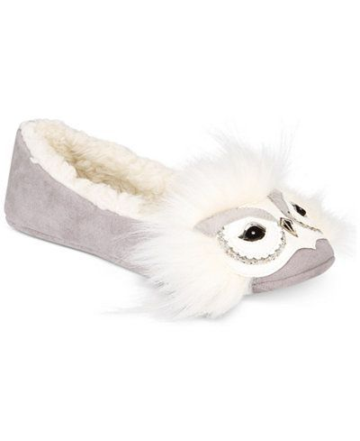 Add a little cheeky character to relaxing in style with kate spade new york's Samantha slippers, complete with fluffy fur and adorable detailing. Kate Spade new york Samantha Slippers.