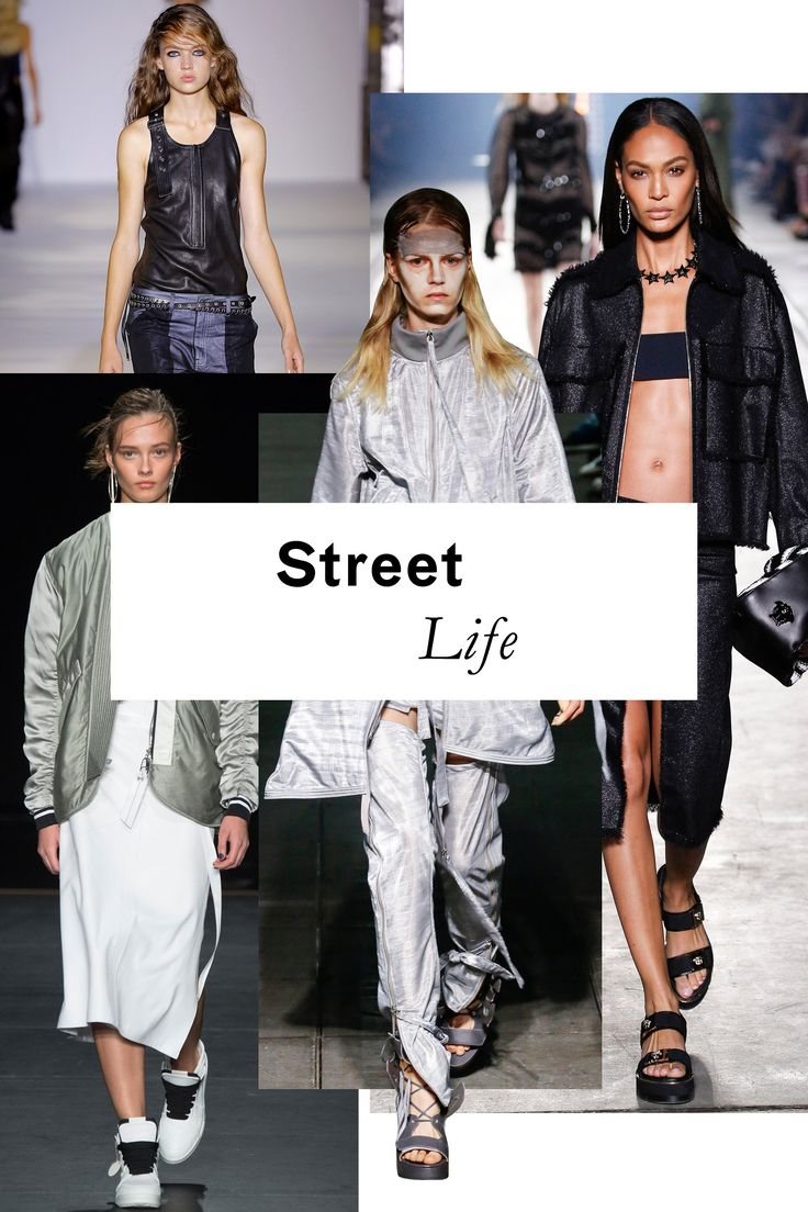 Are you tough enough? Streetwear's ongoing influence made its presence known on runways from Balenciaga (luxe boilersuits with utilitarian flair to spare) to Rag & Bone (borrowed-from-the-boys M1-style bombers aren't going anywhere anytime soon).
