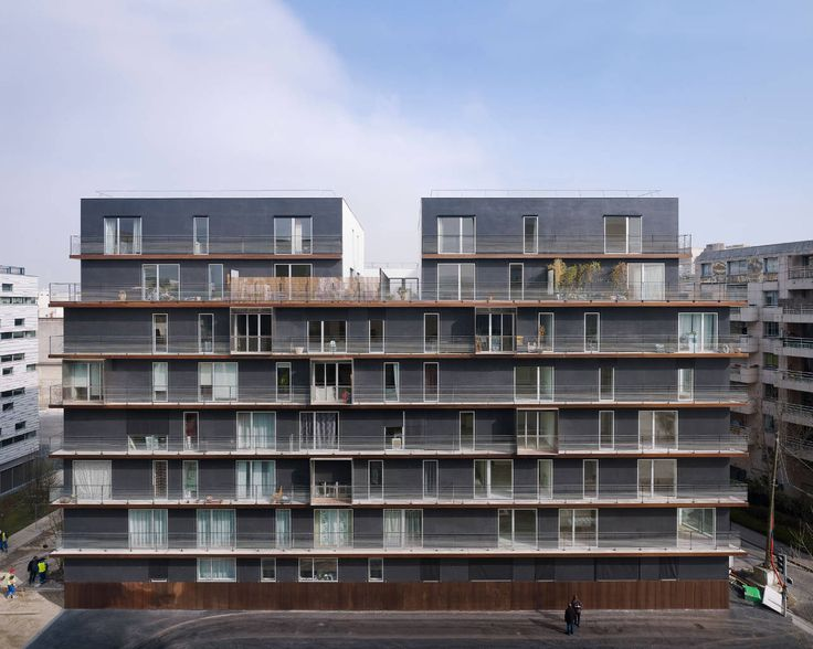 Built by LAN Architecture in Boulogne-Billancourt for #Nacarat with date 2011. Images by Julien Lanoo. Architecture of the crisis. This project, for which the competition occurred in 2008, is the result of a complex tr...