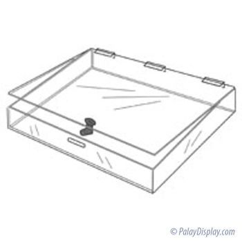 Acrylic Countertop Display Case - Flat
