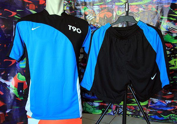 Setelan Kaos Nike T90 Hitam Biru Rp 80.000