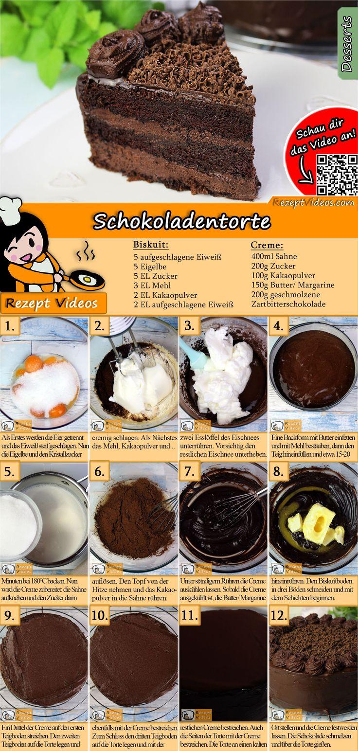 Ein Schokoladentraum ist dieses Schokoladenkuchenrezept! Der Schokoladenkuchen Re …   – DESSERT Rezepte mit Videos, mit Rezeptkarten