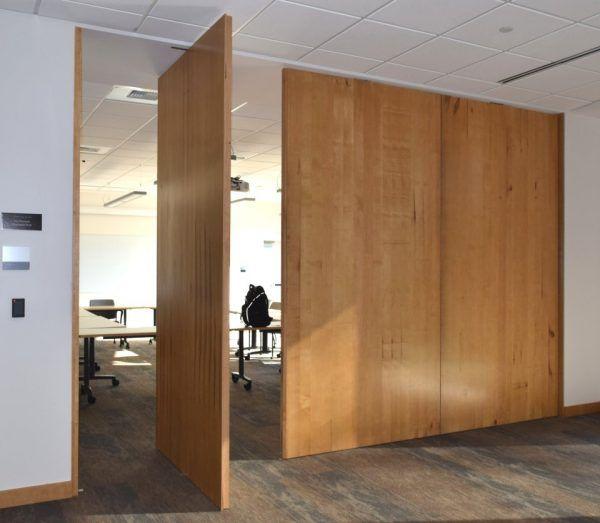 Pivot door room dividers insulated wood lightweight high strength