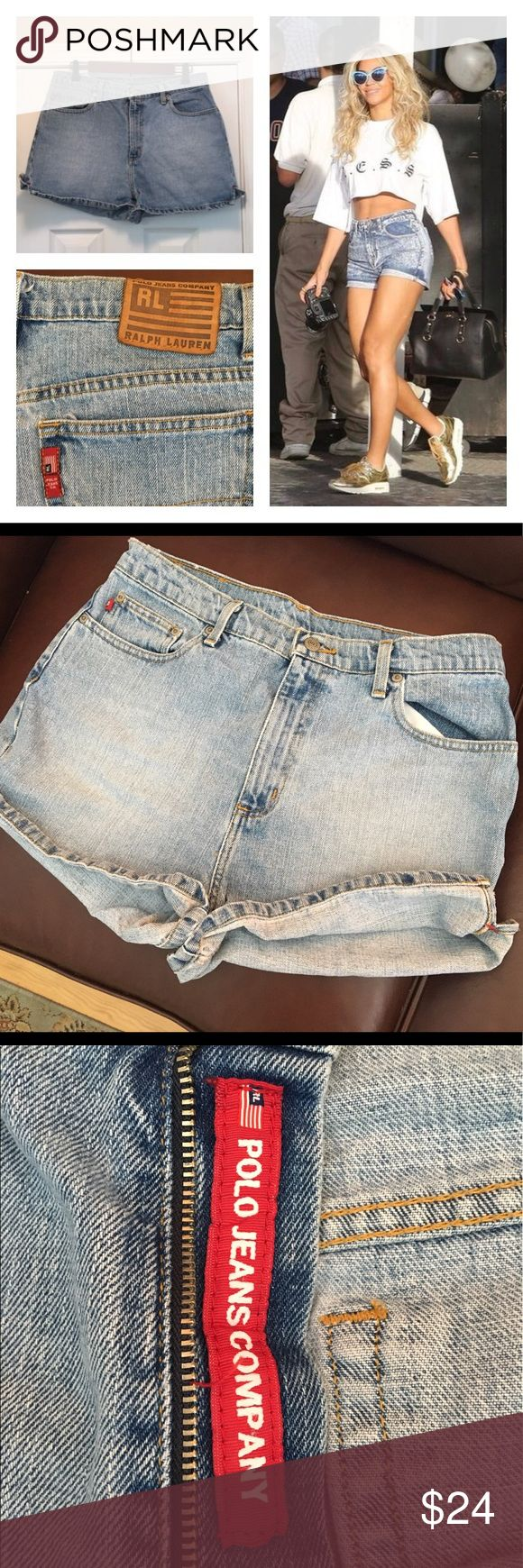 """Ralph Lauren Weekender Shorts 100% Cotton Shorts are in excellent gently used condition.   """"A NICE PAIR OF POLO RALPH LAUREN WOMENS JEAN SHORTS""""!!! Ralph Lauren Shorts Jean Shorts"""