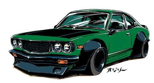 """""""hakosukajapan:  ozizo:  car illustration / (c) ozizo  YOOOOO  """""""