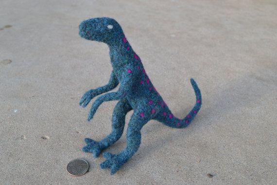 Needle felted therapsid dinosaur (CraftsAreGood)