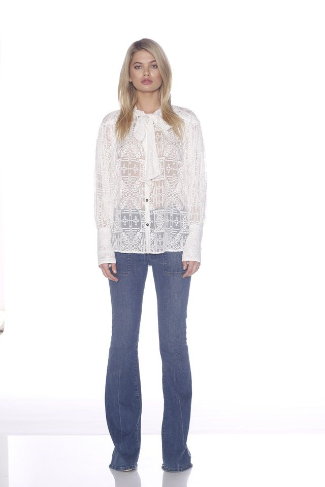 Ministry of Style - Wandering Tie Up Blouse - Ivory