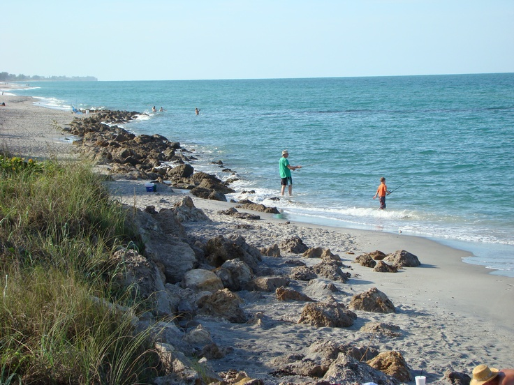 Caspersen Beach Park, Venice, Fl - fishing and looking for shark teeth.